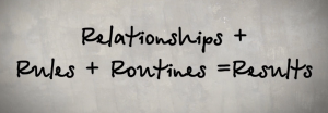Relationship, rules, and routine lead toresults
